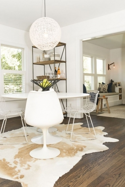 Rugs Under Kitchen Table Design With White Oversize Round Dining Table Images 41