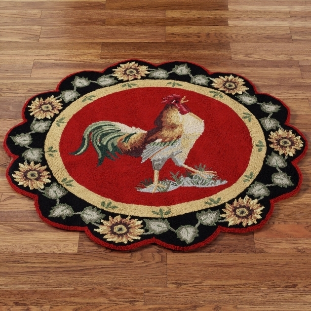 Some Designs Round Rooster Rugs For The Kitchen Images 72