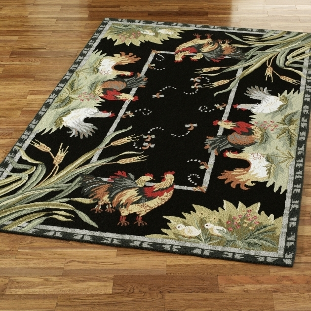 Unique Rooster Rugs For The Kitchen Black Design Ideas Image 78