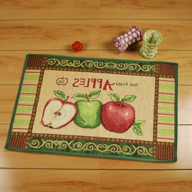 Yazi Country Style Apple Rugs For Kitchen Photos 02