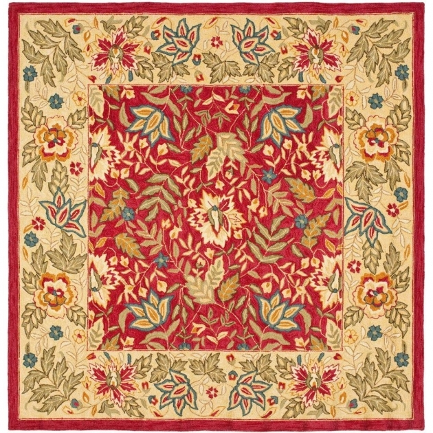 8 X 8 Square Area Rugs Kaleen Nomad Red Images 22