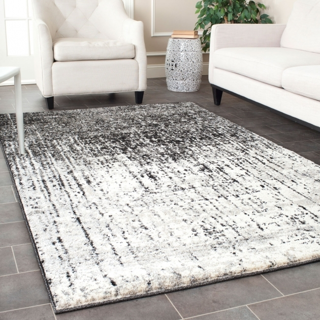 8 X 8 Square Area Rugs Retro Rugs Grey Black 60 Styled Area Rug picture 29