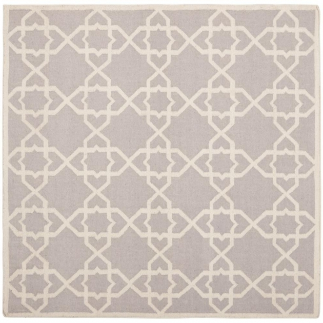 8 X 8 Square Area Rugs Safavieh Dhurries Grey Ivory Pics 43