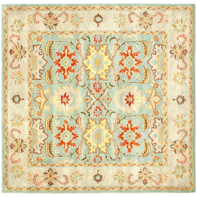 8 X 8 Square Area Rugs Safavieh Heritage Light Blue Ivory Square Indoor Handcrafted Photo 49