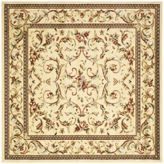 8 X 8 Square Area Rugs Safavieh Lyndhurst Ivory Square Indoor Machine-Made Oriental Pics 71