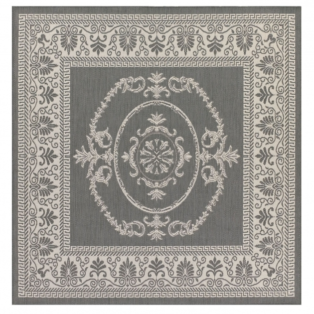 Antique Medallion Square Outdoor Rugs Images 00
