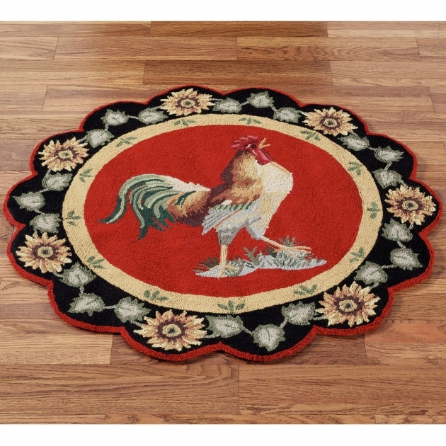 Barnyard Round Rooster Kitchen Rugs Pictures 07