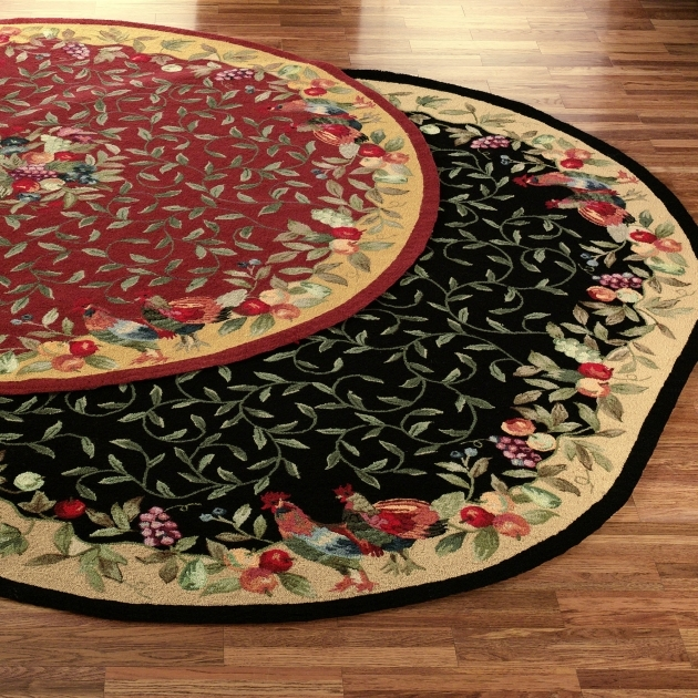 Black And Red Chicken Kitchen Rugs For Country Kitchen Decorating Ideas Pics 87
