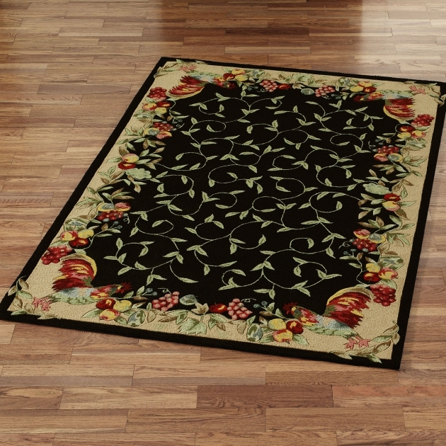 Black Rooster Kitchen Rugs Design Ideas Pics 47