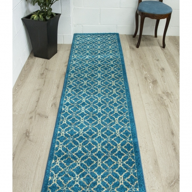 Bombay  Kitchen Turquoise Teal Runner Rug Image 73