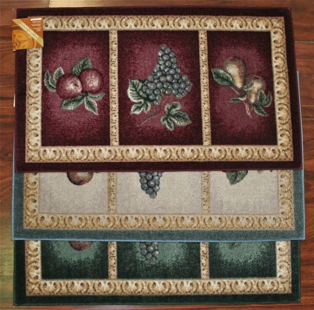 Burgundy Kitchen Rugs Fruit Design Pic 00