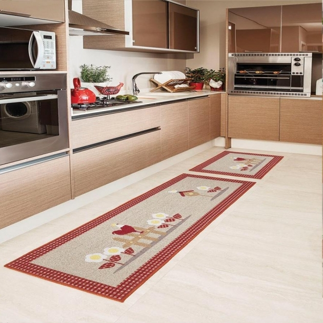 Chicken Kitchen Rugs Decoration On Wooden Floor Pic 15