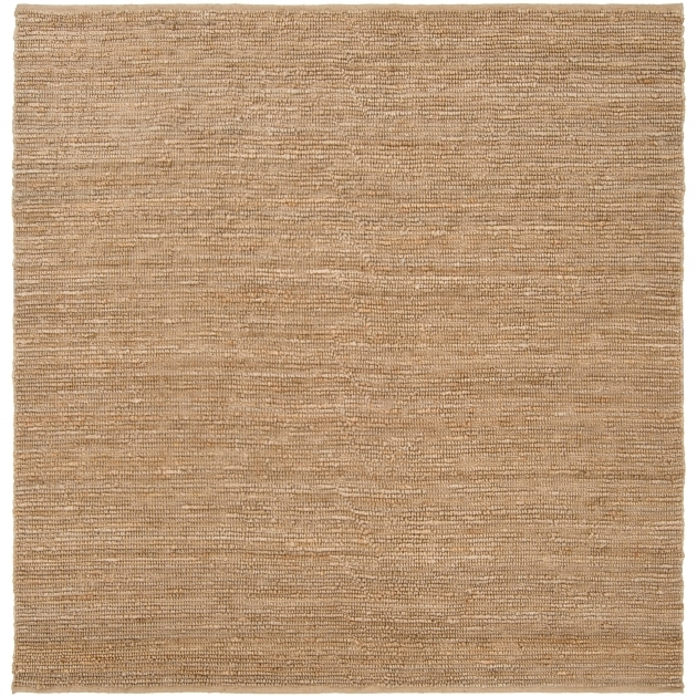 Hand-Woven Natural Lionfish Fiber Square Jute Rug Images 17