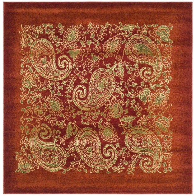 Kaleen Nomad Red 8 X 8 Square Area Rugs Photo 28