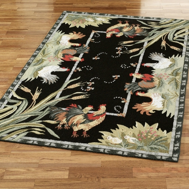 Large Black Rooster Kitchen Rugs Pics 35