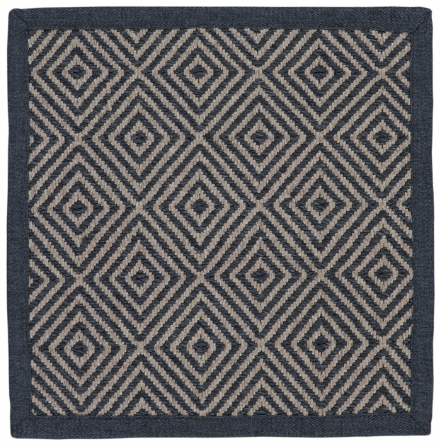 Mixed Grey Coconut Square Outdoor Rugs Collection Photos 56