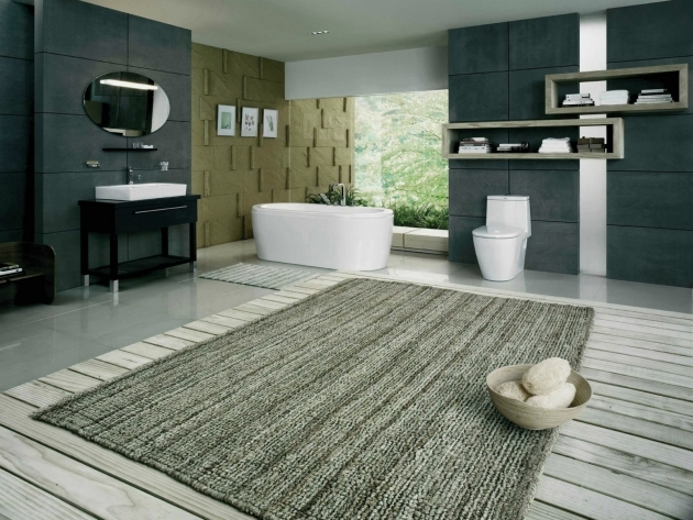 Modern Extra Large Bathroom Rugs Image 14