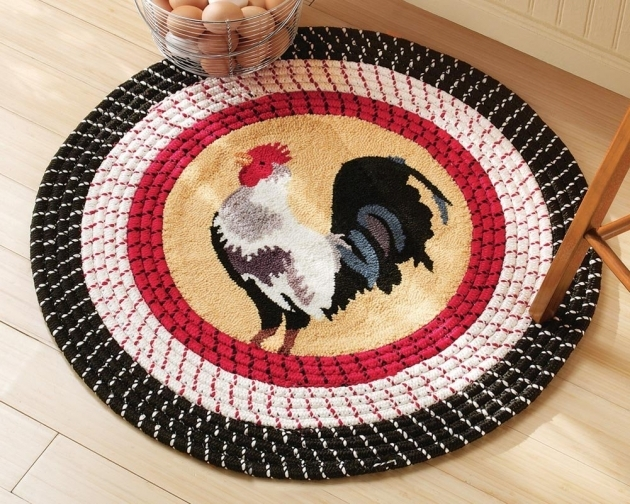 Round Rooster Kitchen Rugs Ideas Perfect Style Design Pictures 13