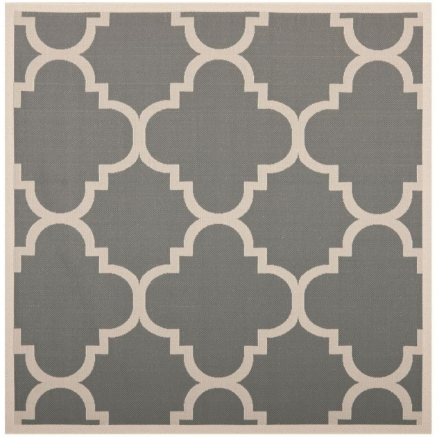 Safavieh Courtyard Gray-Beige 4 Ft. X 4 Ft.  Square Outdoor Rugs Images 82