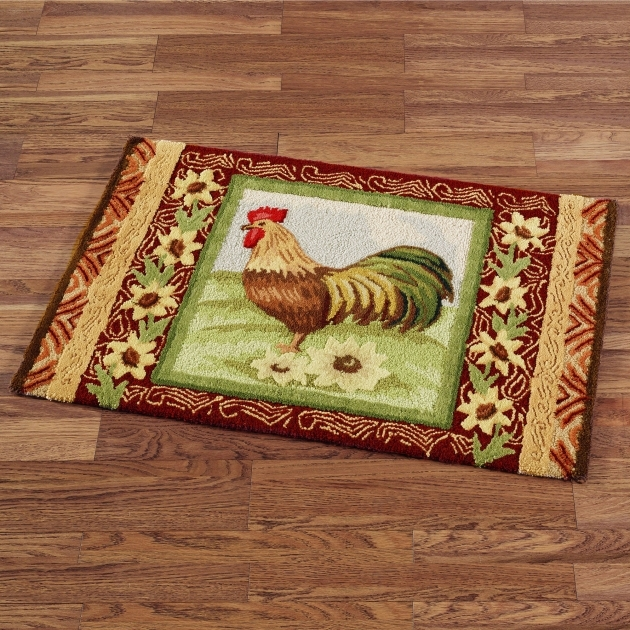 Simple Rooster Kitchen Rugs Country Kitchen Nuance With Wooden Floor Pictures 79