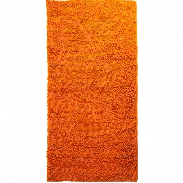 Solid Orange Kitchen Rugs Lavish Home High Pile Pic 76