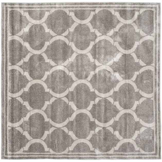 Square Outdoor Rugs Safavieh Amherst Dark Gray Beige 7 Ft. X 7 Ft. Pics 81
