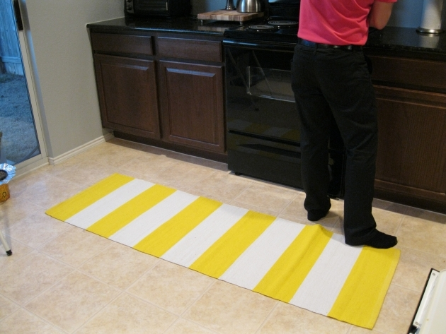 Stripe Yellow Kitchen Rugs Pictures 28