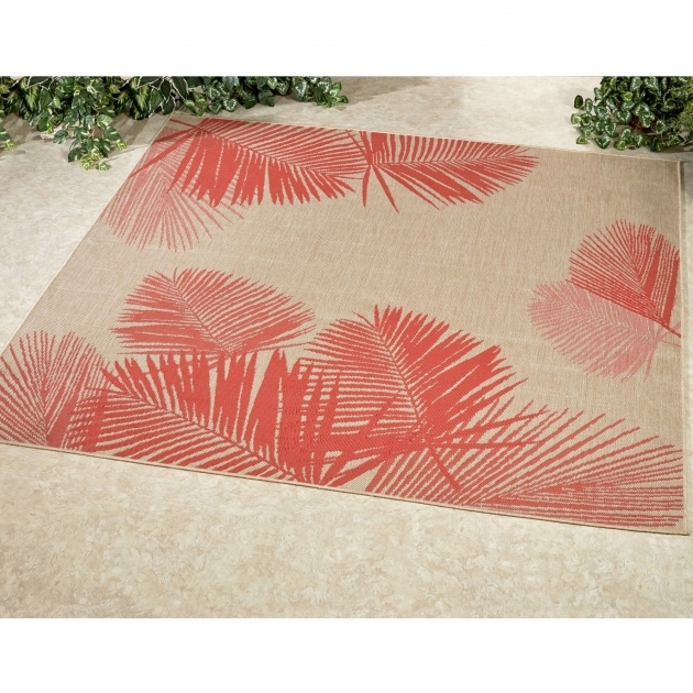 Terrace Palm Tropical Square Outdoor Rugs By Liora Manne Pics 39