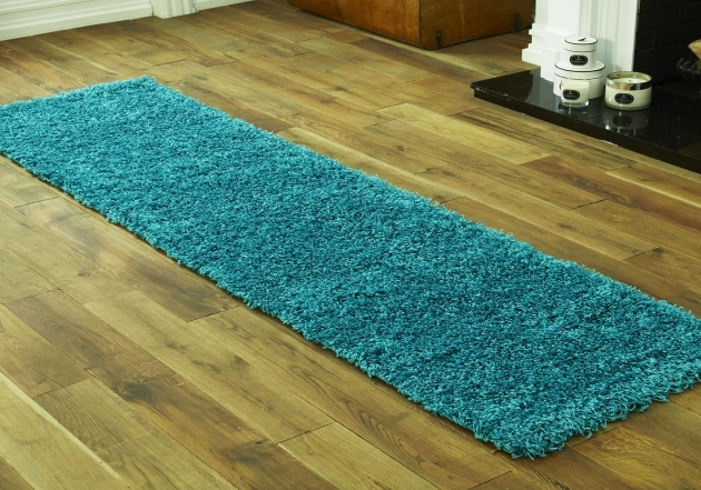 Turquoise Shaggy Collection Hallway Teal Runner Rug Pictures 83