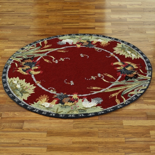 Unique Rooster Chicken Kitchen Rugs Images 25