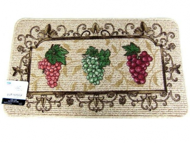 Wine Grape Themed Burgundy Kitchen Rugs Pic 66