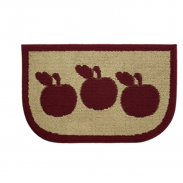 Apple Kitchen Rugs Textured Loop Apple Turnover Wedge Slice Kitchen Area Rug Ymk003501 Image 10