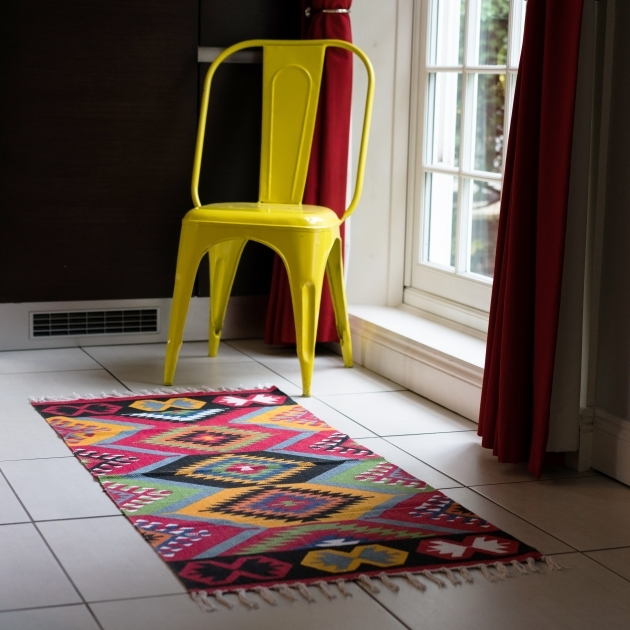 Aztec Runner Rug Retro Multicoloured Pics 18