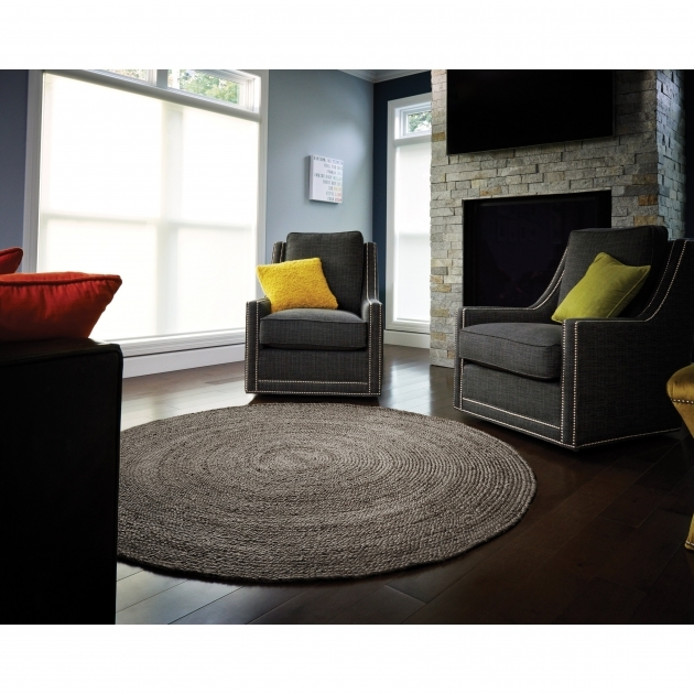Birch Lane Sarina Charcoal Gray Braided Area Rug Pic 13