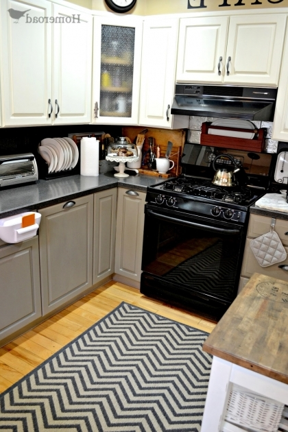 Gray And White Striped Large Kitchen Rugs Pictures 78