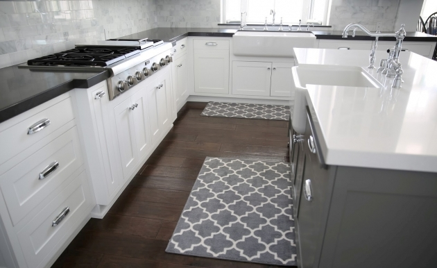 Gray Kitchen Sink Rugs And Kitchens Island Storage Pics 41