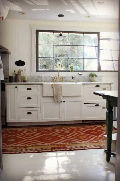 Kitchen Sink Rugs Runners Red Rug With Border Stripe Cotton Rug Image 45