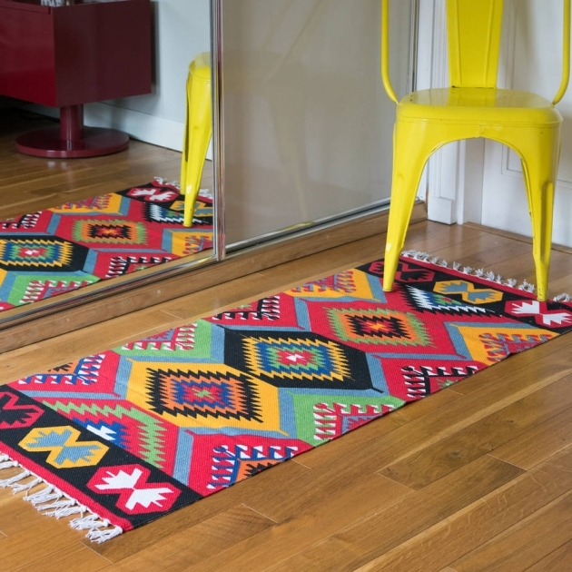 Original Multicoloured Aztec Runner Rug Pics 79