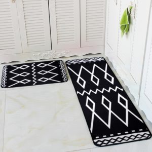 Black and White Kitchen Rug