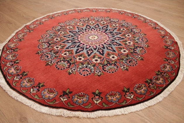 Carpet Kashan 94 Cm Red Very Rare Round Persian Rugs Pictures 83