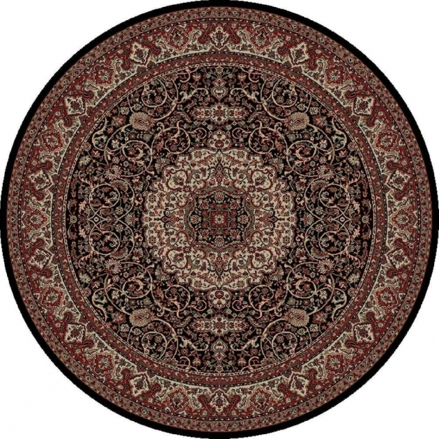 Concord Global Trading Round Persian Rugs Classics Isfahan Black 5 Ft. 3 In picture 55