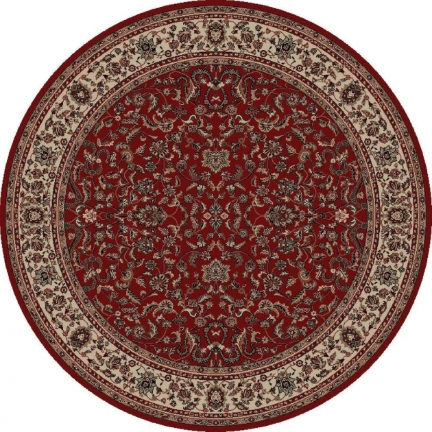 Concord Global Trading Round Persian Rugs Classics Kashan Red 7 Ft. 10 In Images 19