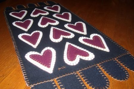 Primitive Cranberry Rug