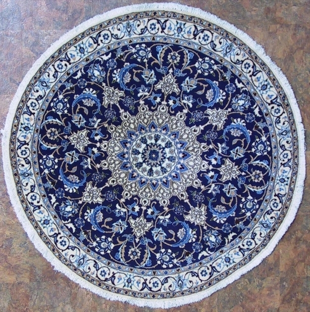 Round Persian Rugs Blue Photo 87
