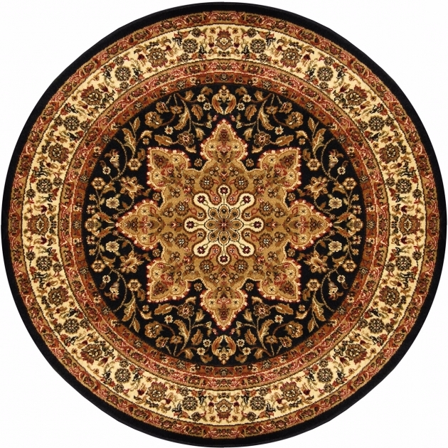 Traditional Round 5X5 Oriental Area Rug Round Persian Rugs Photos 90