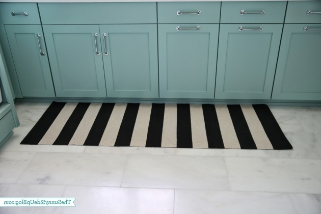 Crate And Barrel Black And White Striped Rug Laundry Room Runner Rug 74