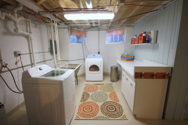Crate And Barrel Black And White Striped Rug Laundry Room ...