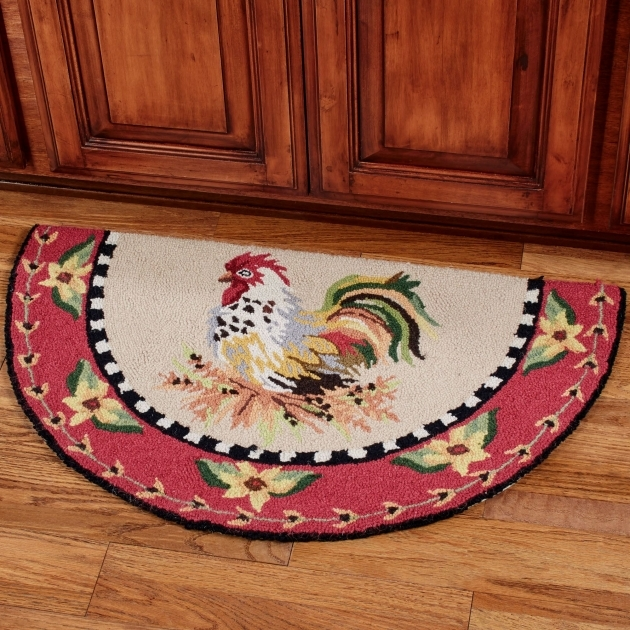 Barnyard Round Rooster Kitchen Rugs Pictures 07 Rugs Design